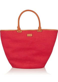 Emilio Pucci Leather-trimmed straw tote