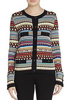 Emilio Pucci Multicolor Intarsia Knit Cardigan