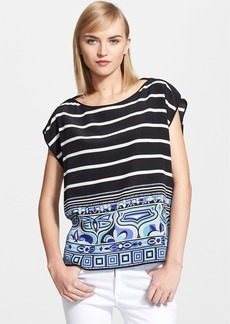 Emilio Pucci Nautical Print Silk Crêpe de Chine Top
