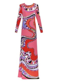 Emilio Pucci Niki-print cut-out silk dress
