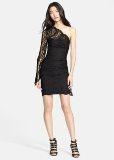 Emilio Pucci One-Shoulder Lace Dress