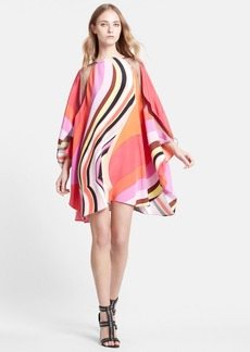 Emilio Pucci Onyx Print Silk Caftan Dress