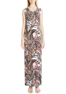 Emilio Pucci Print Jersey Sleeveless Gown