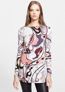 Emilio Pucci Print Silk Tunic Top