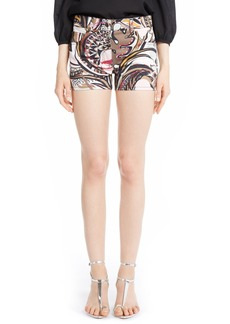 Emilio Pucci Print Stretch Cotton Shorts