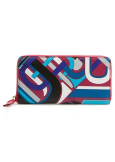 Emilio Pucci Print Zip Around Wallet