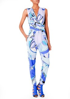 Emilio Pucci Printed Cross-Front Jumpsuit