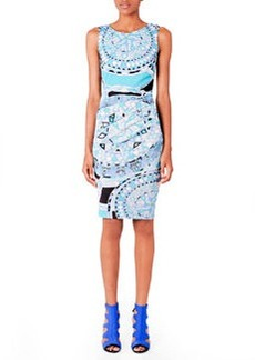 Emilio Pucci Printed Fitted Jersey Dress