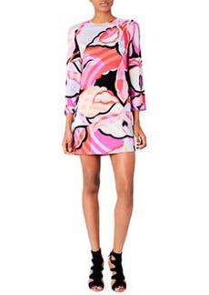 Emilio Pucci Printed Georgette Shift Dress