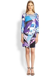 Emilio Pucci Printed Jersey Square-Neck Dress