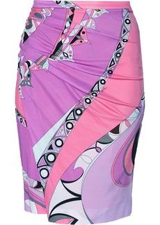 Emilio Pucci Printed satin-jersey skirt