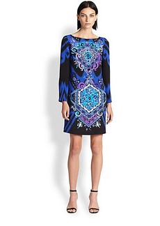 Emilio Pucci Printed Silk Cady Dress