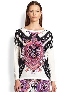 Emilio Pucci Printed Silk-Front Tee