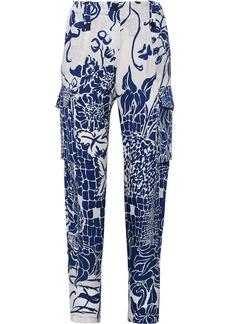 Emilio Pucci Printed silk straight-leg pants
