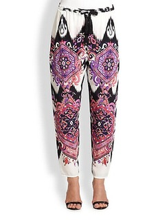 Emilio Pucci Printed Silk Trousers