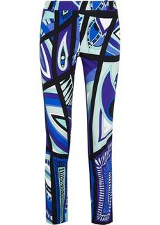 Emilio Pucci Printed stretch-cotton straight-leg pants