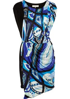 Emilio Pucci Printed wrap-effect jersey mini dress