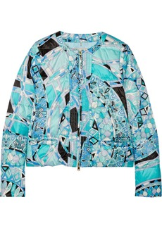 Emilio Pucci Quilted printed shell down jacket