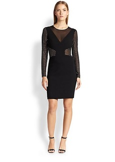 Emilio Pucci Rhinestone-Embellished Body-Con Dress