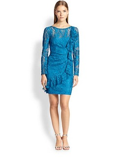 Emilio Pucci Ruffle-Detail Lace Dress