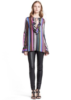 Emilio Pucci Ruffle Detail Silk Shirt