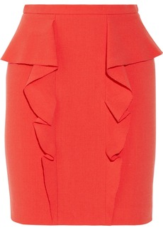 Emilio Pucci Ruffled stretch-wool mini skirt