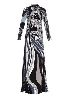 Emilio Pucci Sagittarius-print high-neck silk gown