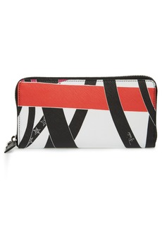 Emilio Pucci Saturn Print Zip Around Wallet