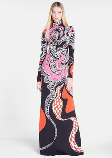 Emilio Pucci 'Scorpio' High Neck Silk Gown