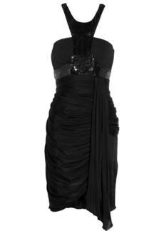 Emilio Pucci Sequin-embellished satin-jersey mini dress