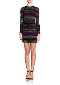 Emilio Pucci Sequined-Stripe Silk Dress