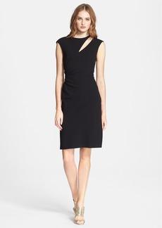 Emilio Pucci Shoulder Cutout Wool Dress