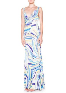 Emilio Pucci Side-Ruched Tank Maxi Dress  Side-Ruched Tank Maxi Dress