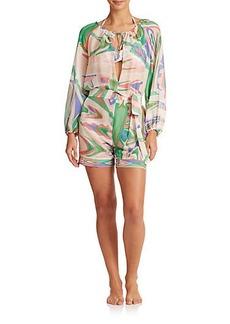 Emilio Pucci Silk Short Jumpsuit