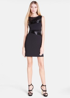 Emilio Pucci Sleeveless Illusion Yoke Sheath Dress