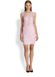 Emilio Pucci Sleeveless Lace Illusion Dress