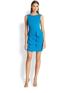 Emilio Pucci Sleeveless Ruffled-Peplum Dress