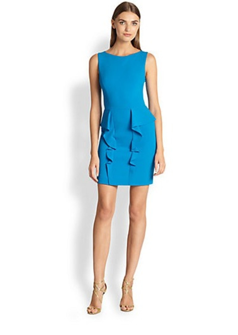 Emilio Pucci Sleeveless Ruffled-Peplum Dress