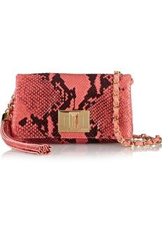 Emilio Pucci Snake-effect leather shoulder bag