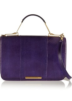 Emilio Pucci Snakeskin and leather shoulder bag