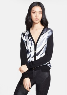 Emilio Pucci Stretch Silk & Wool Cardigan