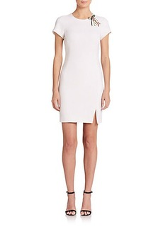 Emilio Pucci Stretch-Wool Lace-Up Sheath