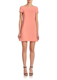 Emilio Pucci Stretch Wool Ruffle-Trimmed Dress