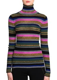 Emilio Pucci Striped Knit Turtleneck Top