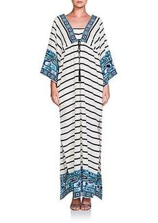 Emilio Pucci Striped Silk Caftan