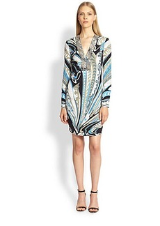 Emilio Pucci Studded Silk Dress