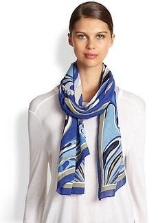 Emilio Pucci Swirled Modal & Silk Scarf