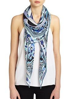 Emilio Pucci Tessellated Silk Scarf