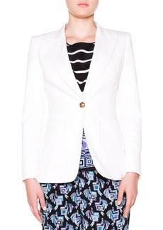 Emilio Pucci Twill Golden-Button Blazer