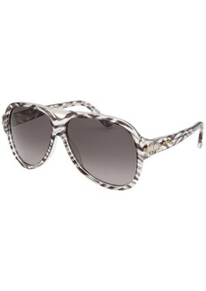 Emilio Pucci Women's Aviator Black and Translucent Sunglasses
